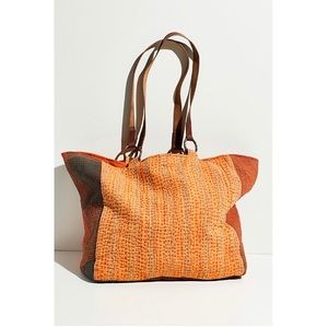 Free People Winnie Washed leather strap quiltedTote